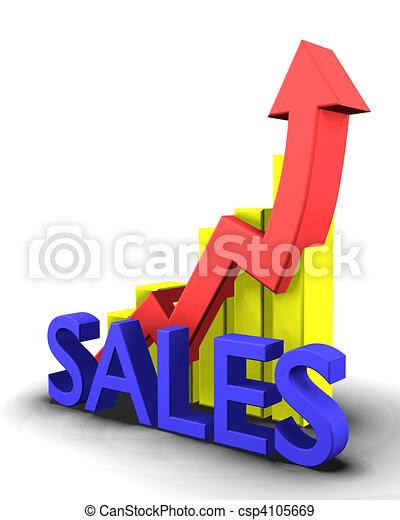 parola, vendite, grafico, statistica - csp4105669