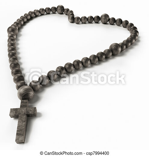 perline, rosario, religione, nero, o, chaplet, love: - csp7994400