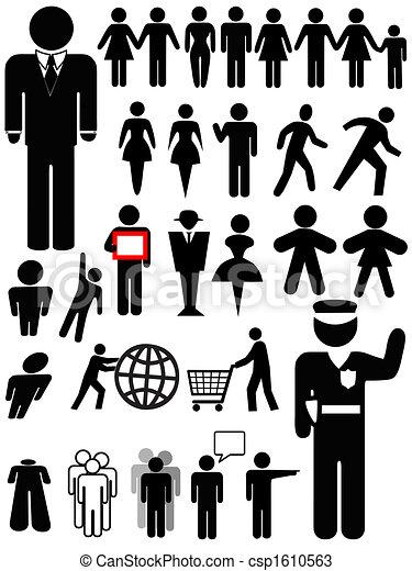 persona, simbolo, set, silhouette - csp1610563