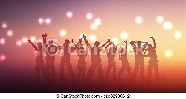persone, 2305, disegno, silhouette, bandiera, ballo - csp82930612