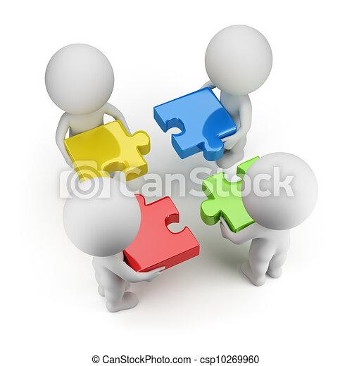 persone, -, enigmi, squadra, piccolo, 3d - csp10269960