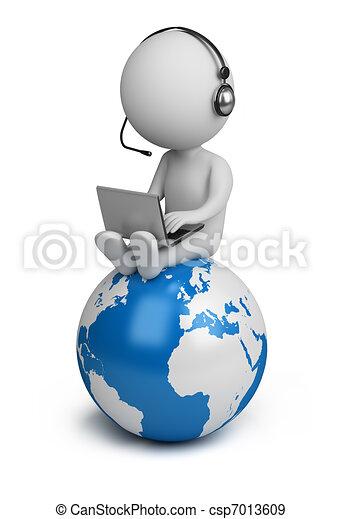 persone, globale, -, direttore, piccolo, 3d - csp7013609