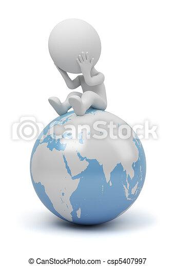 persone, -, globale, domanda, piccolo, 3d - csp5407997
