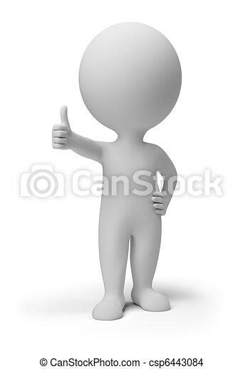persone, positivo, atteggiarsi, -, piccolo, 3d - csp6443084