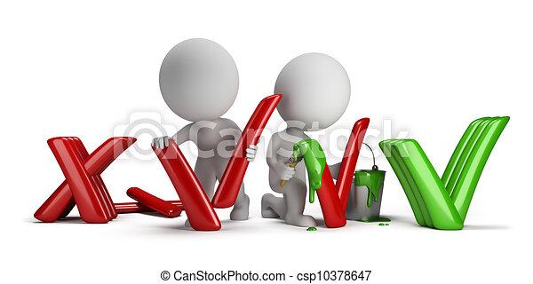 persone, positivo, -, negativo, piccolo, 3d - csp10378647