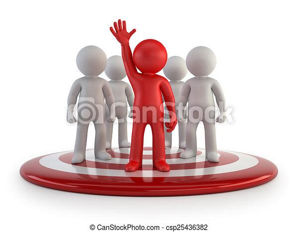 persone, -, squadra, piccolo, condottiero, 3d - csp25436382