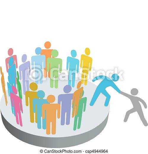 persone, unire, aiuta, persona, membri, gruppo, ditta, benefattore - csp4944964