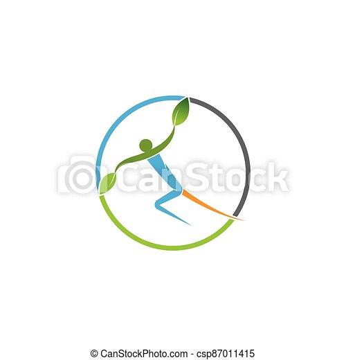 persone, vettore, albero - csp87011415