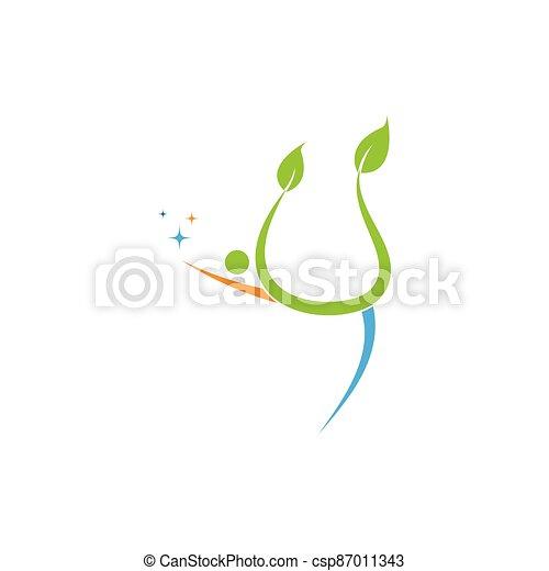 persone, vettore, albero - csp87011343