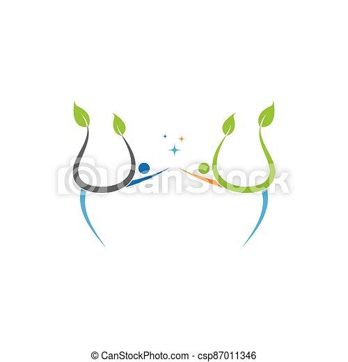 persone, vettore, albero - csp87011346