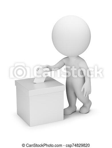 persone, votazione, -, 3d, piccolo - csp74829820