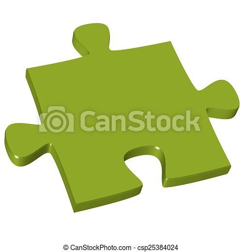 pezzo enigma, verde, 3d - csp25384024