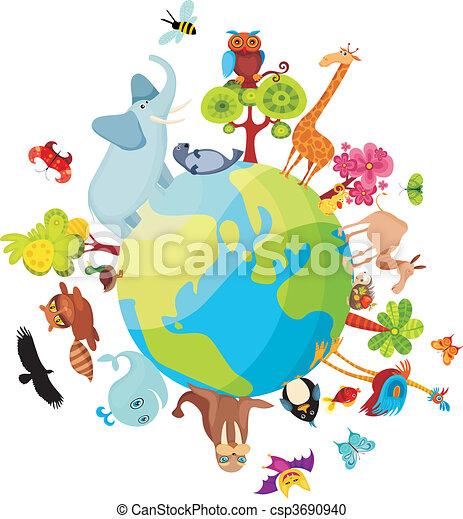 pianeta, animale - csp3690940