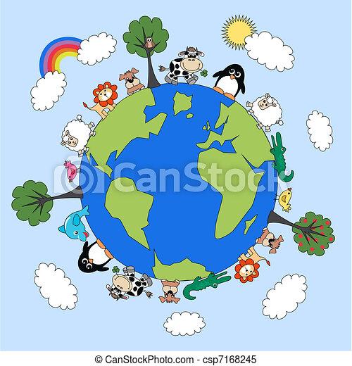 pianeta, animale - csp7168245