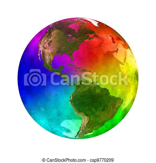 pianeta, arcobaleno, america, -, terra - csp9770209