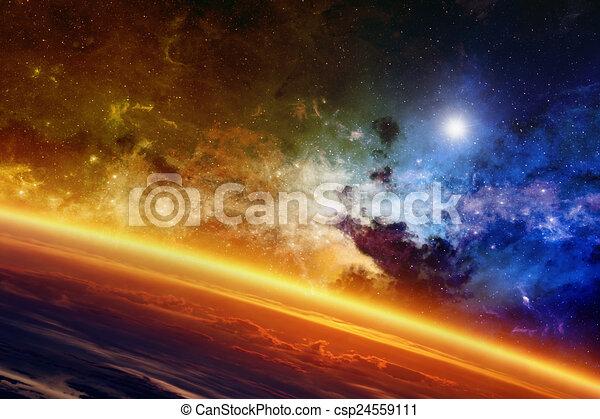 pianeta, ardendo - csp24559111