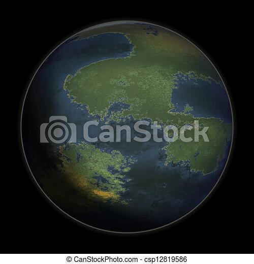 pianeta blu - csp12819586