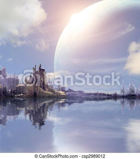 pianeta, fantasia, paesaggio - csp2989012