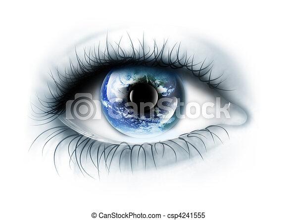 pianeta, occhio - csp4241555