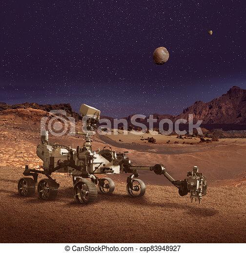 pianeta, perseveranza, esplorare, girovago, superficie, marte - csp83948927
