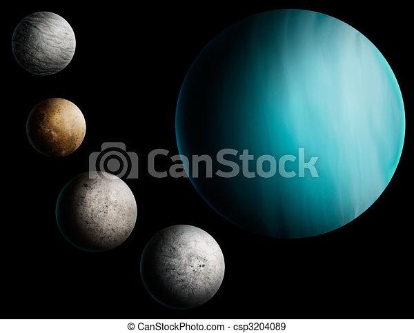 pianeta, pittura, urano, digitale - csp3204089