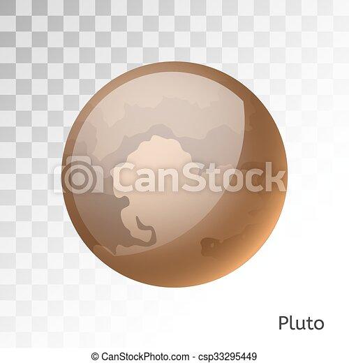 pianeta, plutone, illustrazione, vettore, 3d - csp33295449