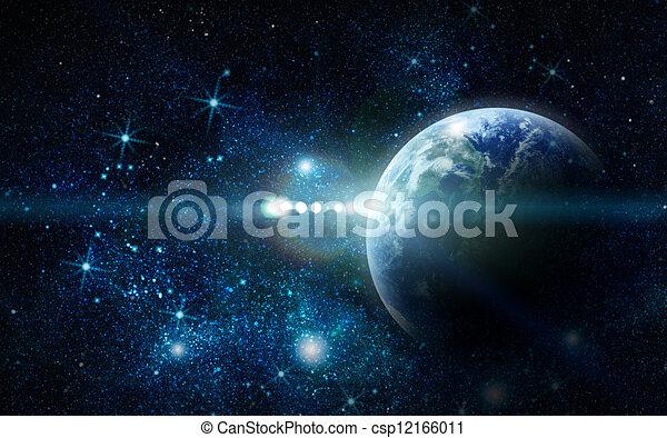pianeta, realistico, terra, spazio - csp12166011