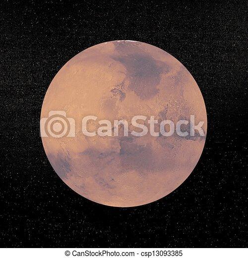 pianeta, render, marte, -, 3d - csp13093385