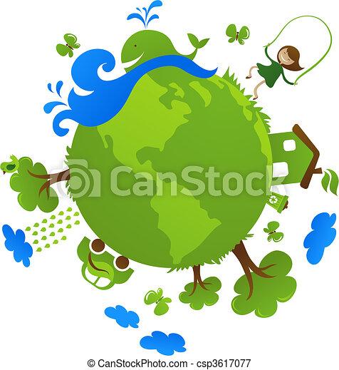pianeta, verde - csp3617077