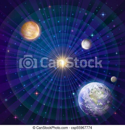 pianeti, sistema solare - csp55967774