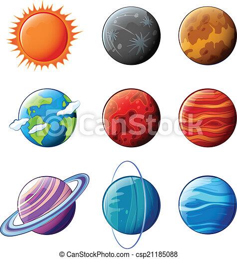pianeti, sistema solare - csp21185088