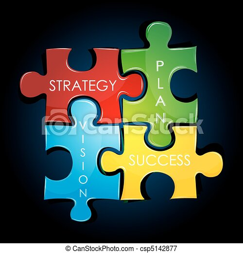 piano, strategia, affari - csp5142877