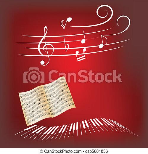 pianoforte, musica - csp5681856