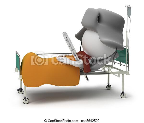 piccolo, -, 3d, paziente, persone - csp5642522