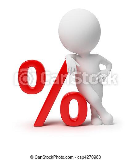 piccolo, -, 3d, percento, persone - csp4270980