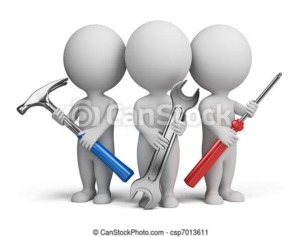 piccolo, -, 3d, riparatori, persone - csp7013611