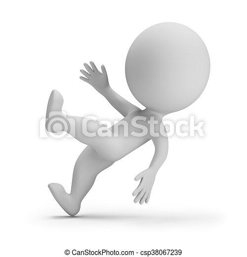 piccolo, 3d, -, slipped, persone - csp38067239