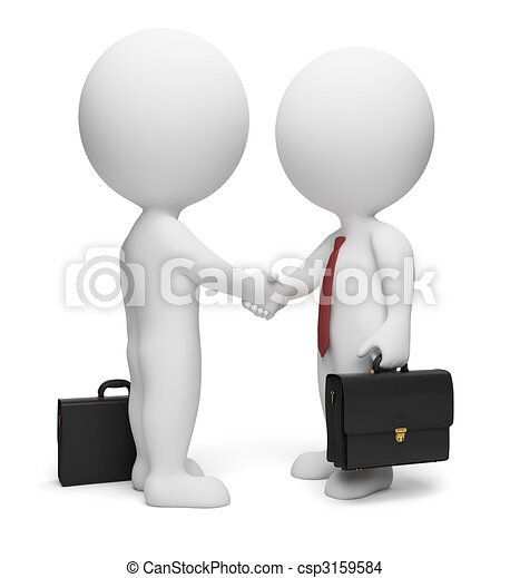 piccolo, 3d, -, uomini affari, persone - csp3159584