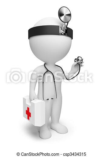piccolo, dottore, -, 3d, persone - csp3434315