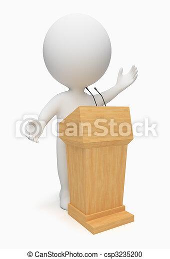 piccolo, oratore, 3d, -, persone - csp3235200