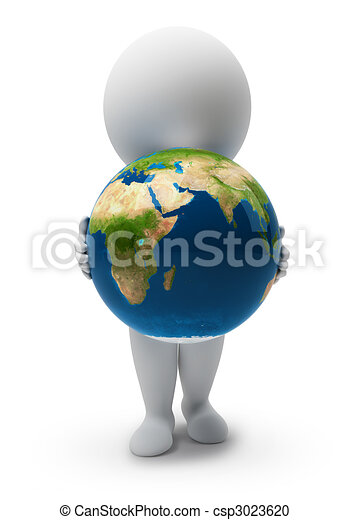 piccolo, people-earth, 3d - csp3023620