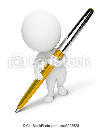 piccolo, people-pen, 3d - csp3023623