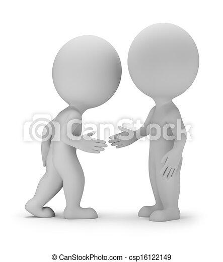 piccolo, stato accordo, 3d, -, persone - csp16122149