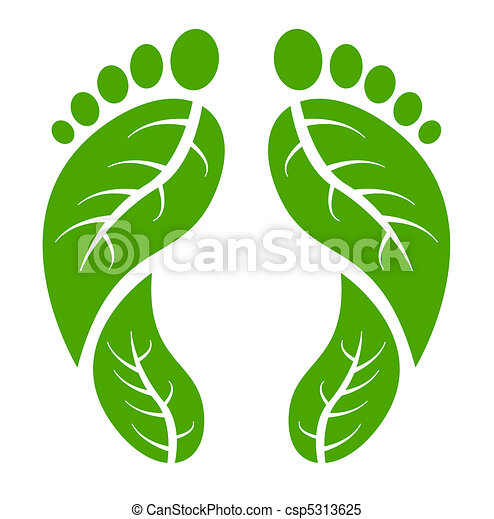 piedi, verde - csp5313625