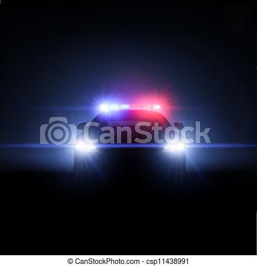 pieno, gazzella, lights., illustrazione, vettore, matrice - csp11438991