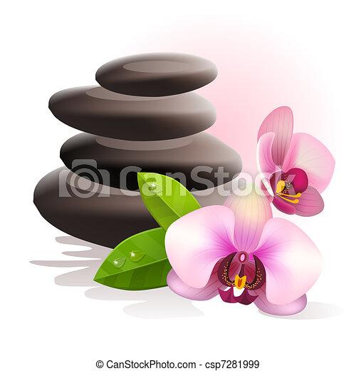 pietre, terme, fiori - csp7281999