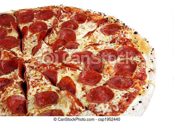 pizza, saporito, isolato, pepperoni - csp1952440