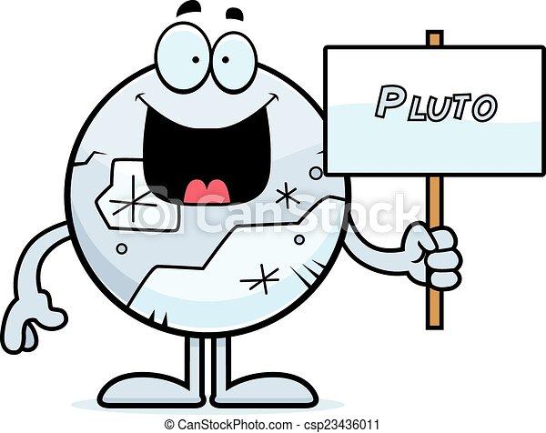 plutone, cartone animato, segno - csp23436011