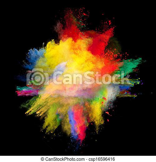 polvere, colorato - csp16596416