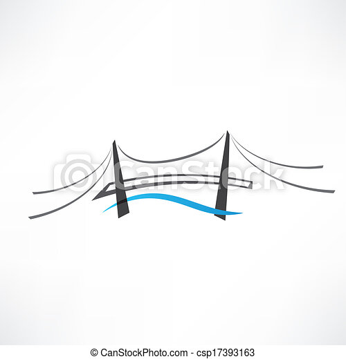 ponte, astratto, strada, icona - csp17393163